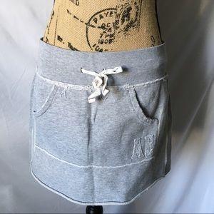 American Eagle Gray Sweatshirt Skirt Sz S